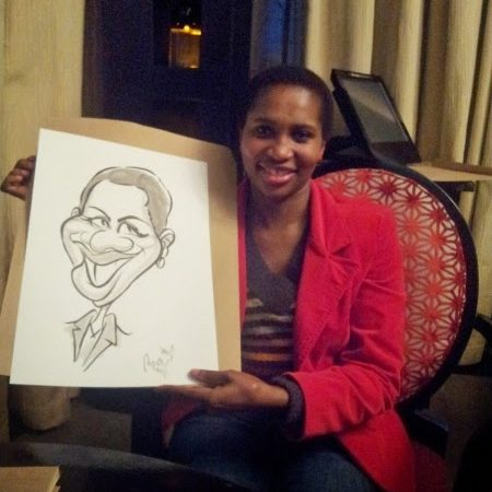 Caricatures at North Wharf, Cape Town