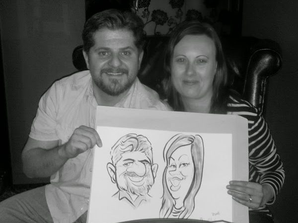 Caricatures for Protea Hotel, Johannesburg day 2