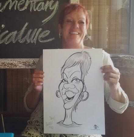 Caricatures at Lizette's Kitchen, Hermanus