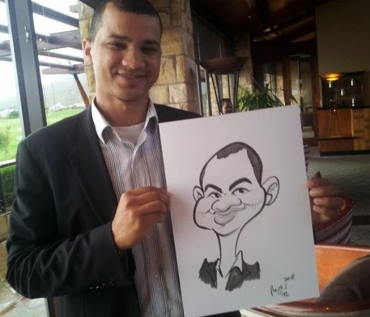 Caricature portraits at Arabella for Budget