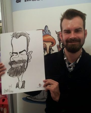 Caricatures at the Winelands Bridal Fair day 2