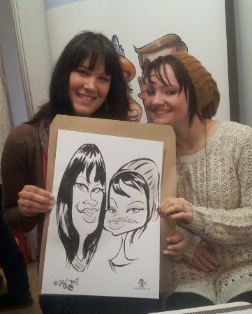 Caricatures at the Winelands Bridal Fair day1
