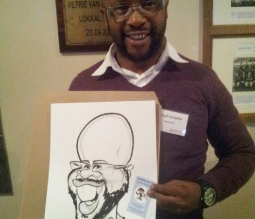 Caricatures for Venshaw at the Durbanville Rugby Club