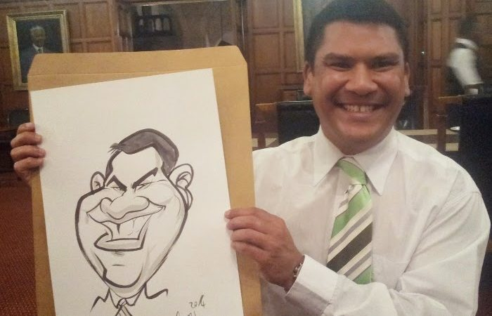 Live caricatures at The Cape Town Club