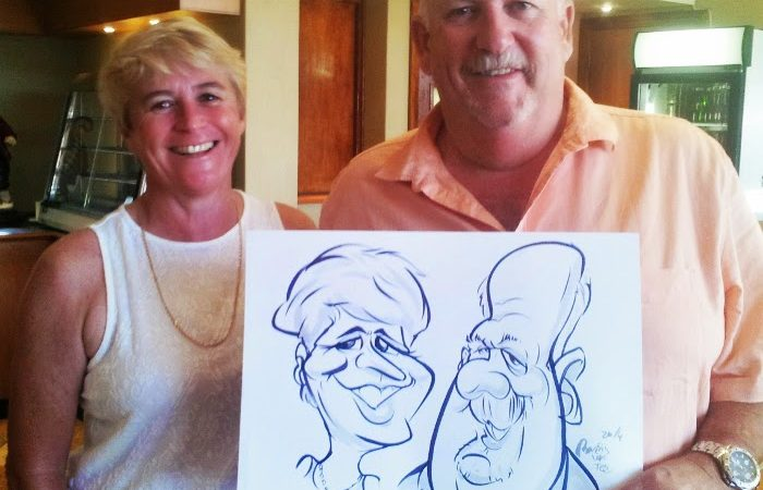 Caricatures for Whale Coast FM