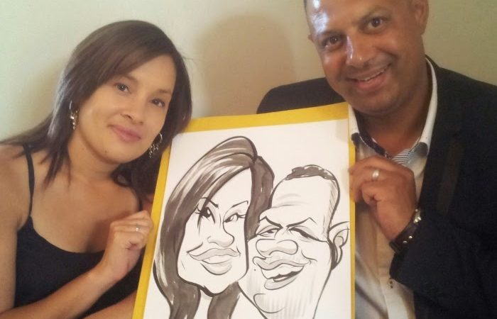 Caricatures for Quintin and Annalize's wedding