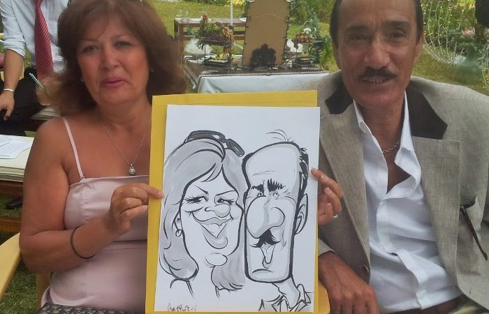 Wedding Caricatures: Leila and Duncan