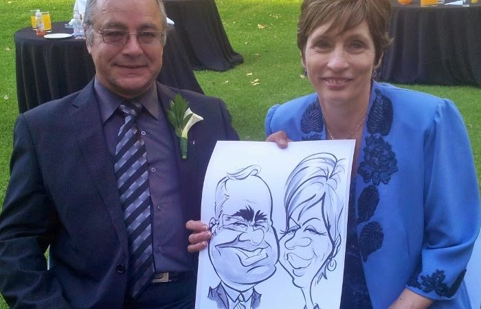 Caricatures at Nicole and Tjaart's wedding