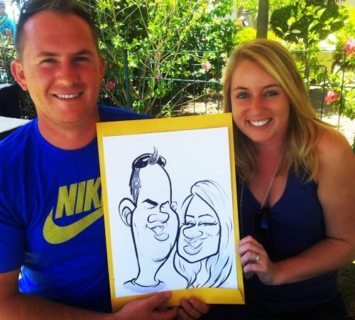 Caricatures at Protea Hotel Stellenbosch summer party