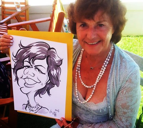 Caricature sketches at Rivendell, Hermanus.