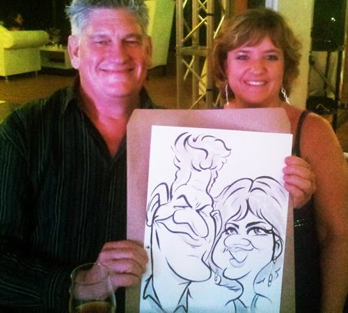 Wedding caricatures- Michael and Maryke
