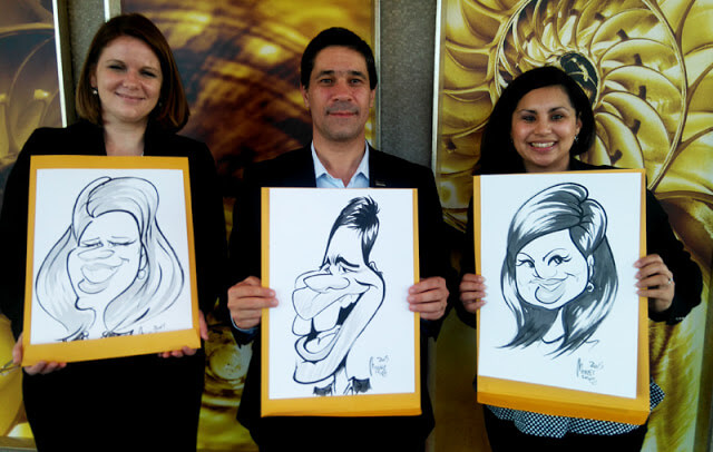 Caricatures for Shape of Africa at the Westin Grand, Cape Town