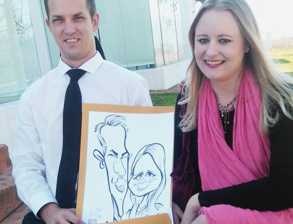 Wedding caricatures-Babylonstoren