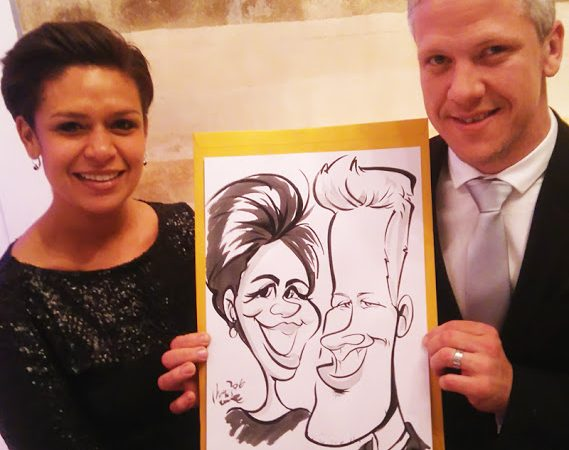 Wedding caricatures Lourensford