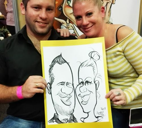 Caricatures at the South African Wedding Show