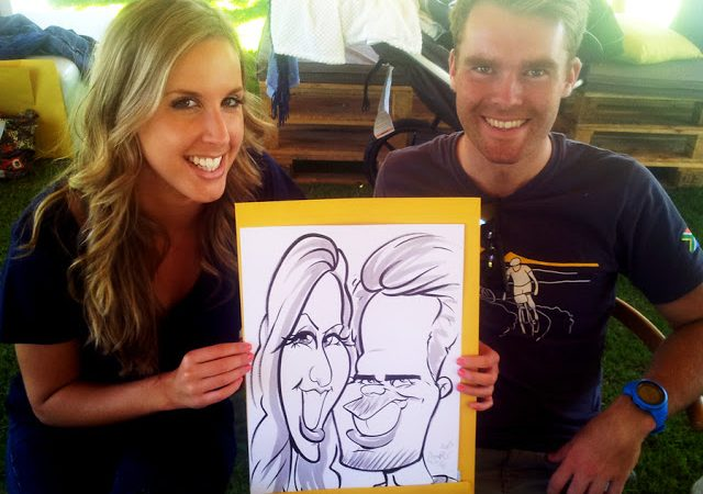 Corporate event caricatures for Urban Tonic