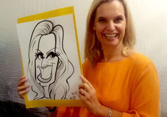 Caricatures at Purim event, Sea Point, Cape Town