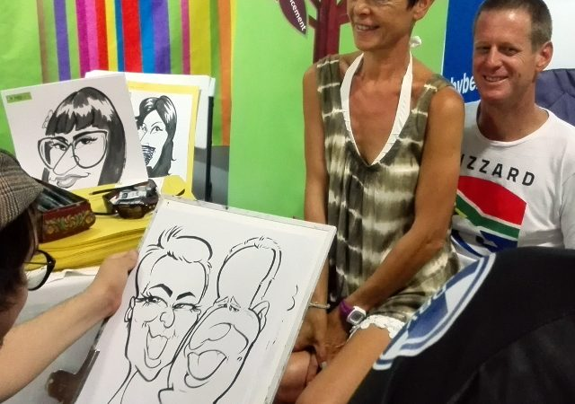 Live caricatures with Imibala Trust