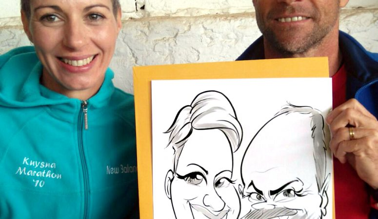 Caricatures at Lourensford Market