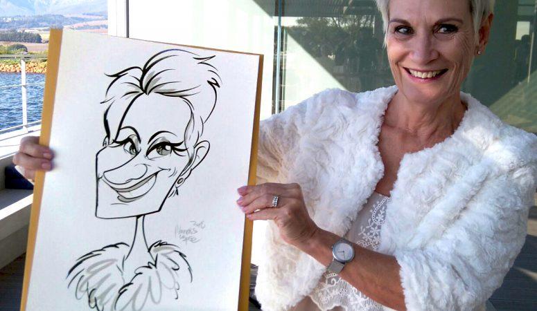 Wedding caricatures at Cavalli Wine Farm