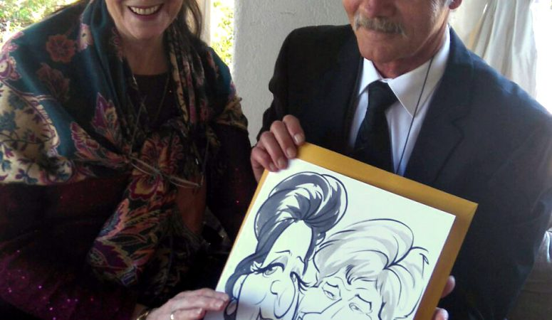 Wedding caricatures at Langkloof