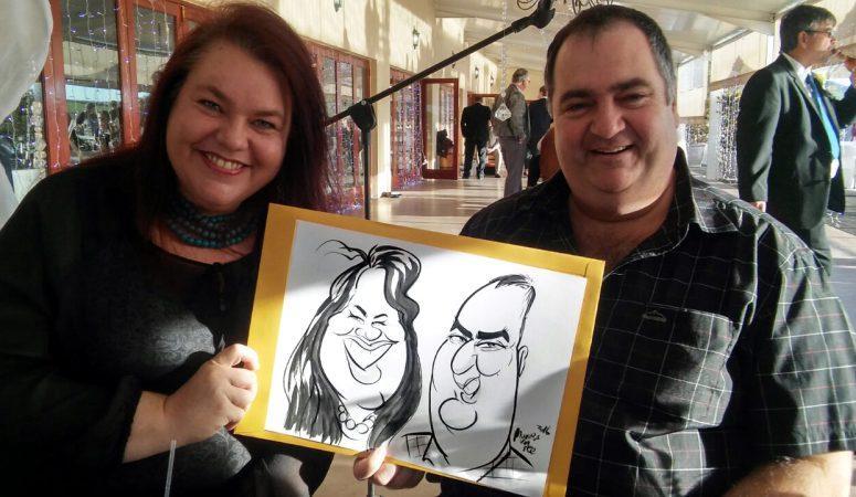 Wedding caricatures at Eensgezind
