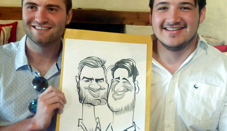 Event caricatures at Middelvlei