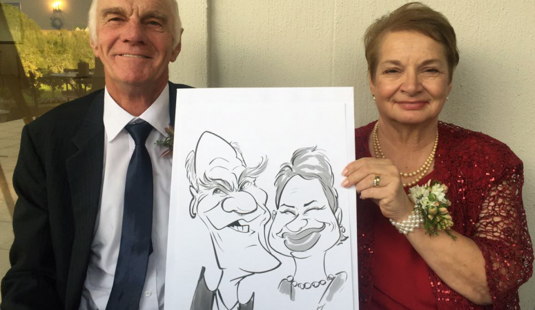 Kronenburg wedding caricatures
