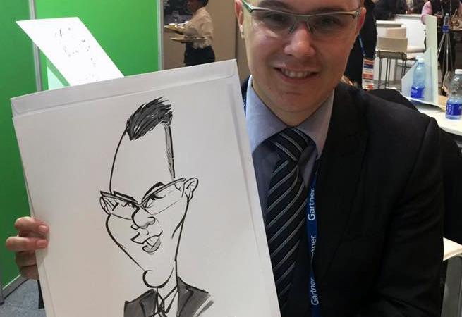 CTICC conference entertainment caricatures