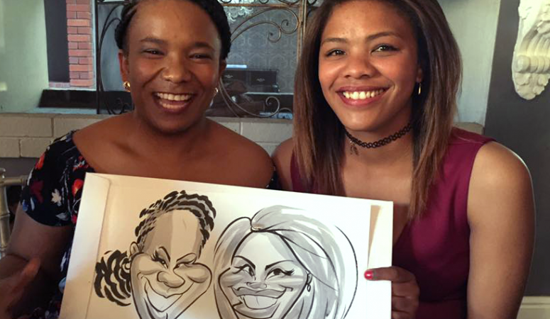 Paarl wedding caricatures