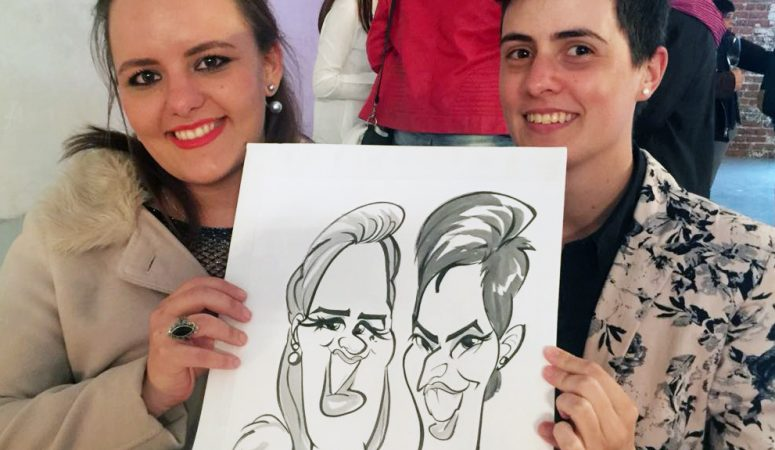 Year-end party caricatures