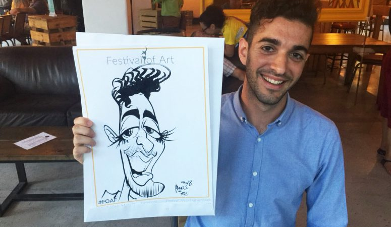 Festival Of Art caricatures