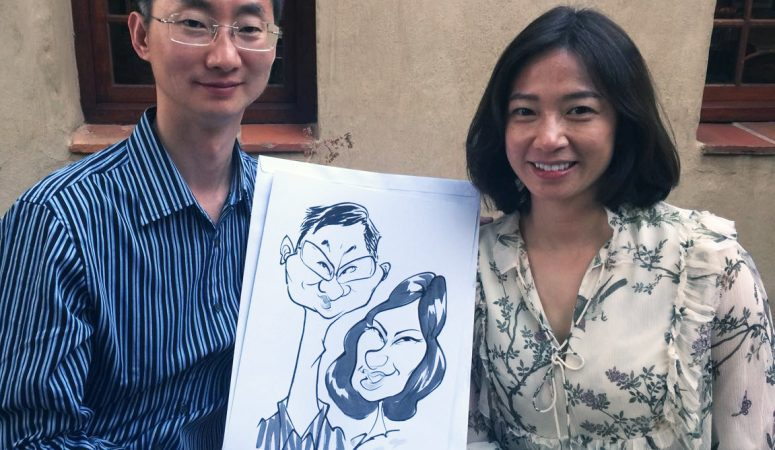 Wedding caricatures in Franschhoek
