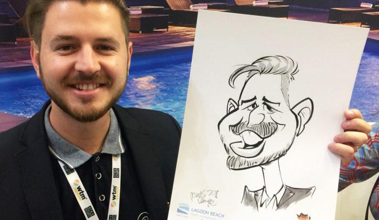 Corporate event caricatures