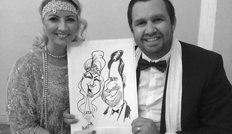 Gatsby party caricatures