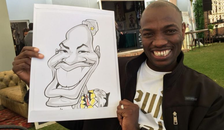 Overberg Wedding Fair caricatures — Part 1