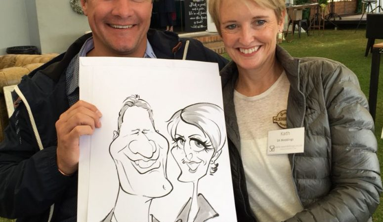 Overberg Wedding Fair caricatures — Part 2