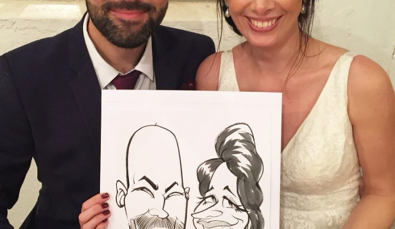 Stone Shed wedding caricatures