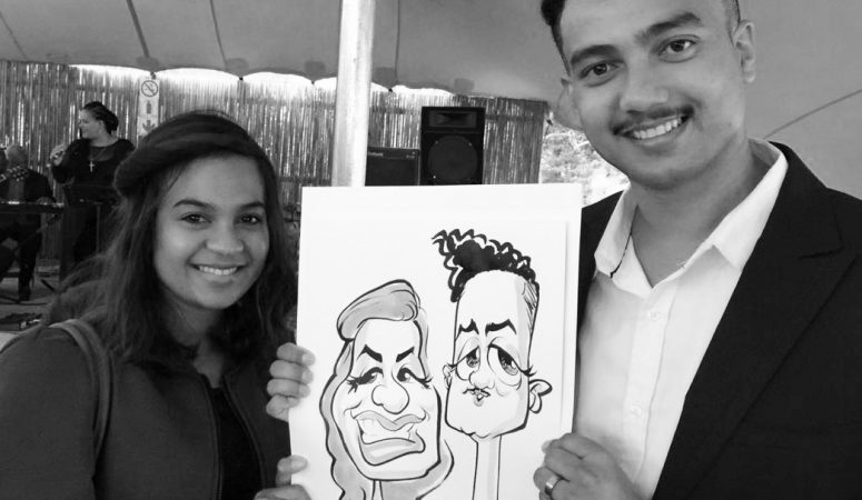 Stellenbosch wedding caricatures
