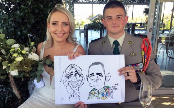 Belair Country House wedding caricatures