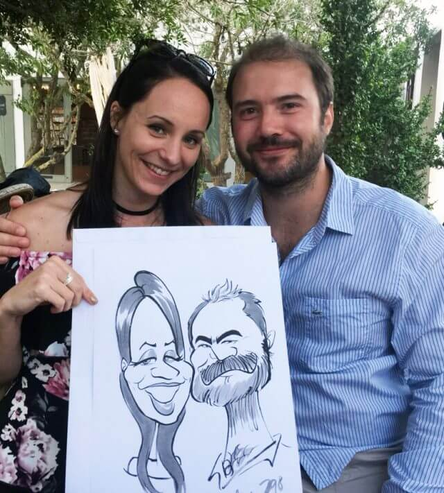 Wedding caricatures in the Western Cape