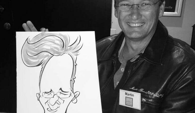 Mercedez Benz club caricatures