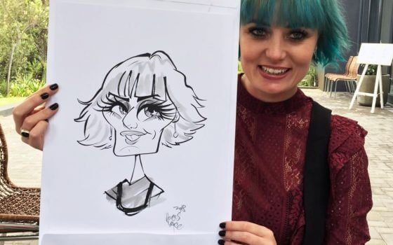 The Conservatory wedding caricatures
