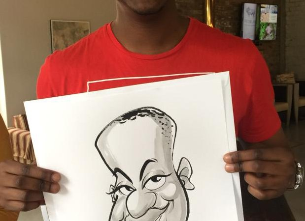 Live caricatures at Uncorked Festival