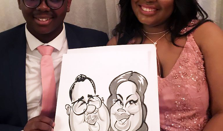 Matric dance caricatures