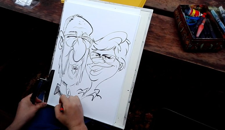 Quick party caricature