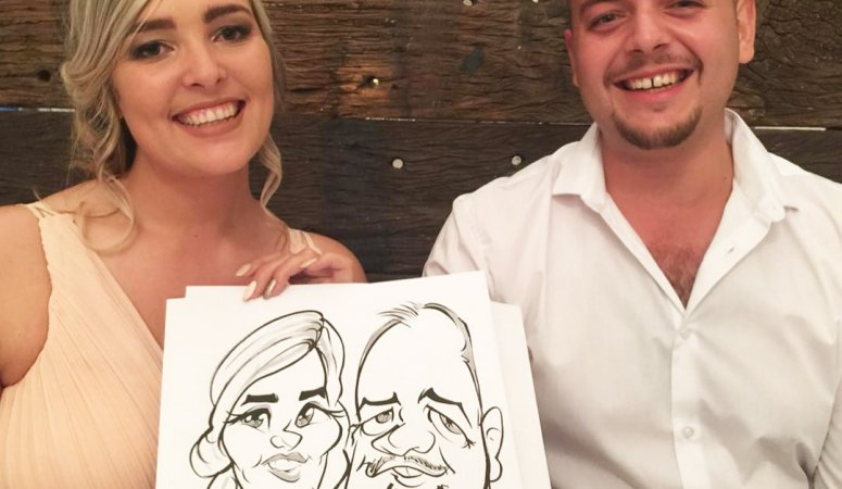 Laurent wedding caricatures