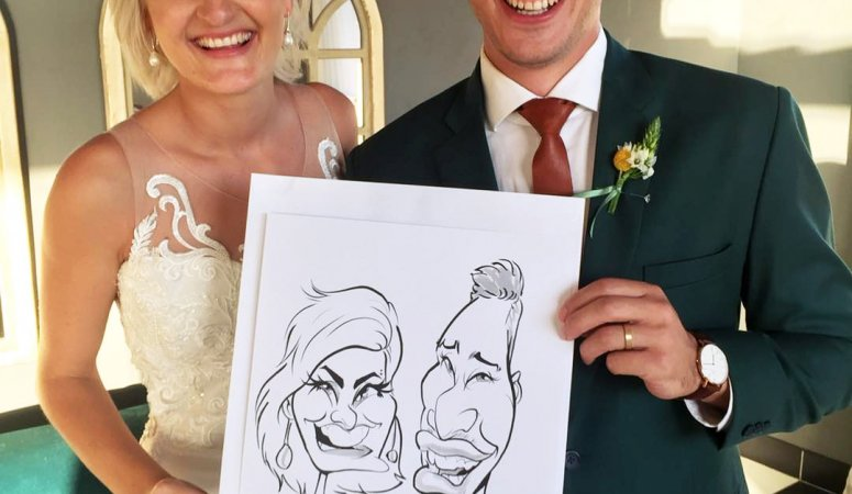 Live wedding caricatures