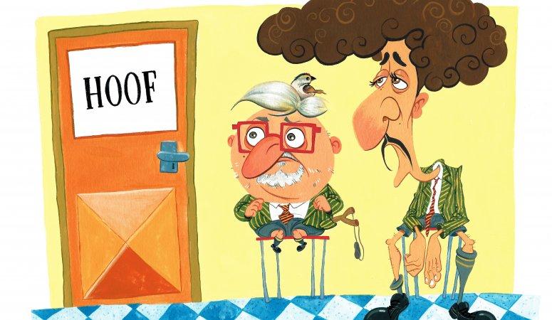 Casper de Vries and Schalk Bezuidenhout caricature