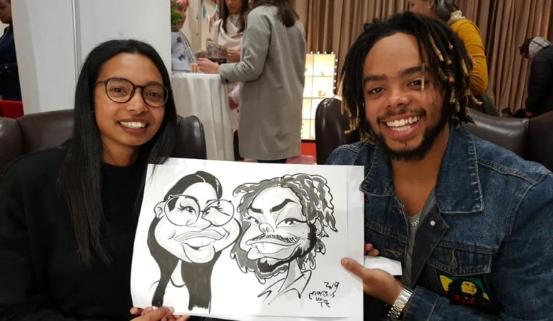 FAB Wedding Sale caricatures